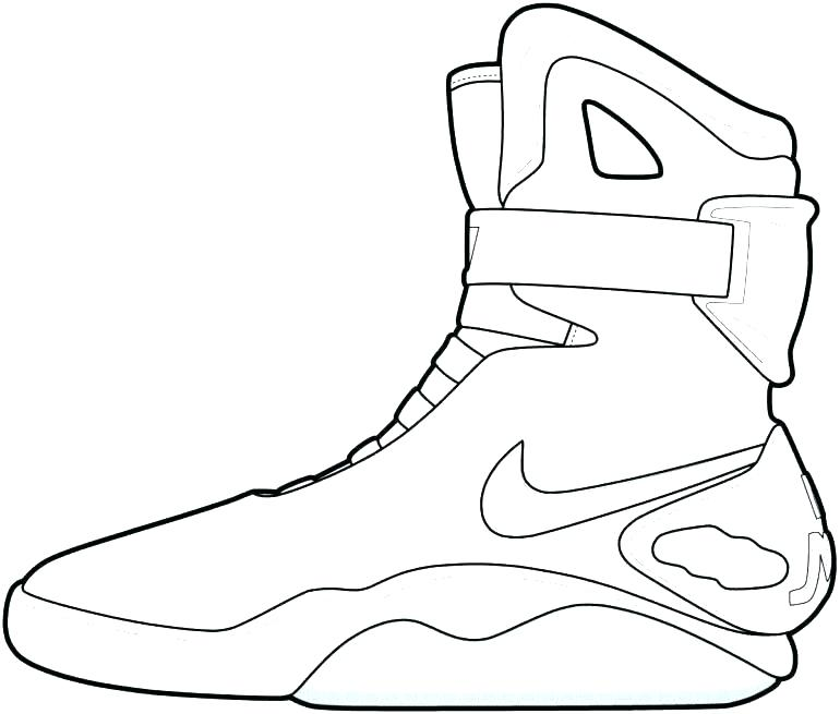 770x655 Nike Shoes Coloring Pages
