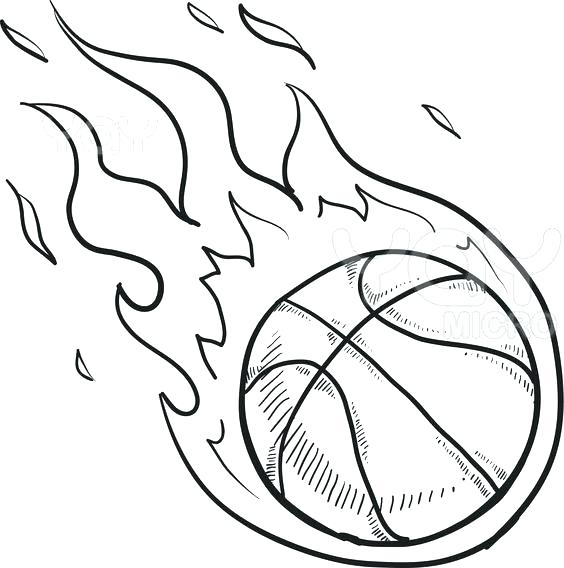 564x568 Basketball Color Pages Basketball Coloring Sheets As Well As