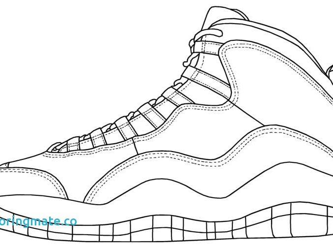 678x506 Jordan Shoe Coloring Pages Coloring Pages Free Printable