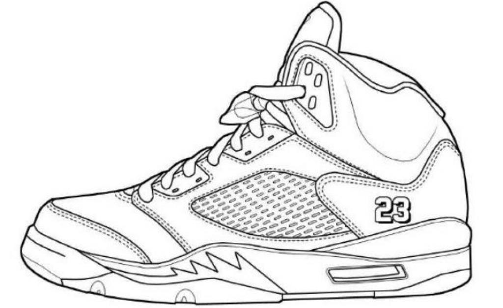 1024x628 Jordan Shoes Coloring Pages