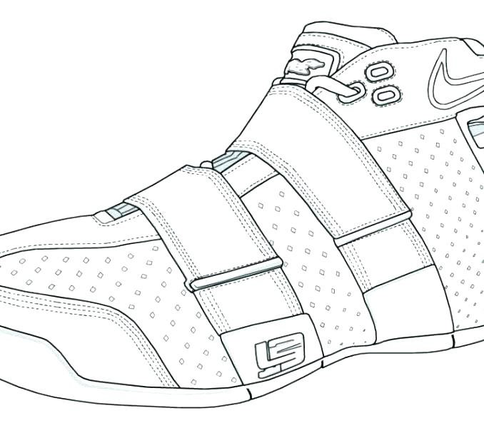 678x600 Nike Coloring Pages More Coloring Pages Nike Coloring Pages Shoes