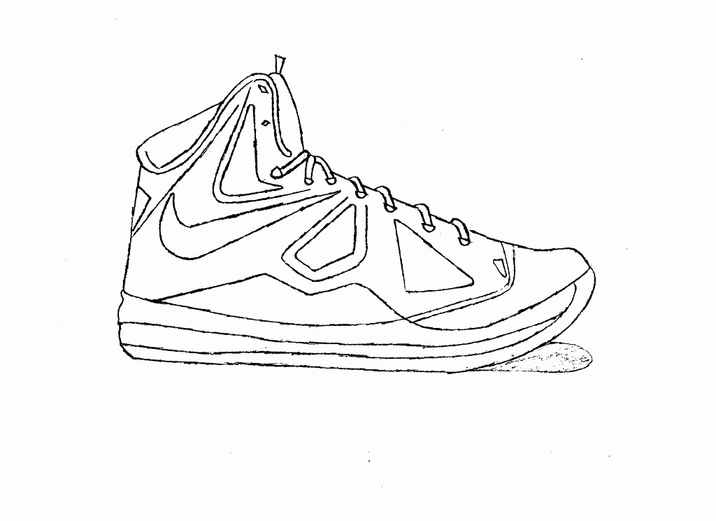 1024x745 Nike Shoe Template Elegant Shoe Coloring Shoe Coloring Pages