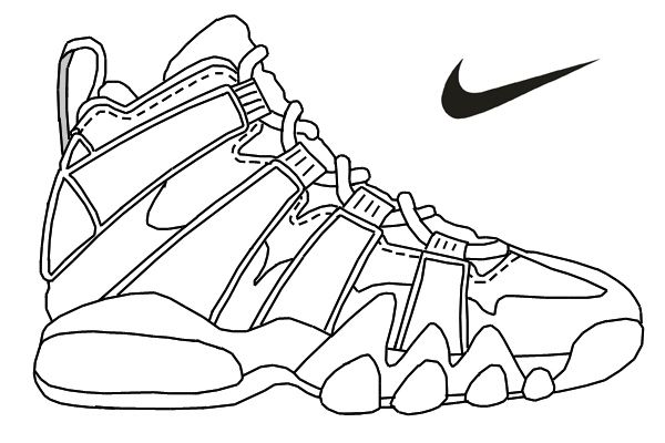 600x400 Nike Air Max Printable Coloring Pages