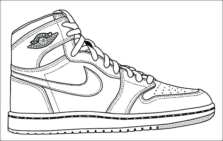 736x466 Shoes Coloring Page Basketball Shoe Picture For Boys Shoe Coloring