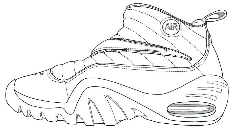 Nike Shoes Coloring Pages At Getdrawings Free Download