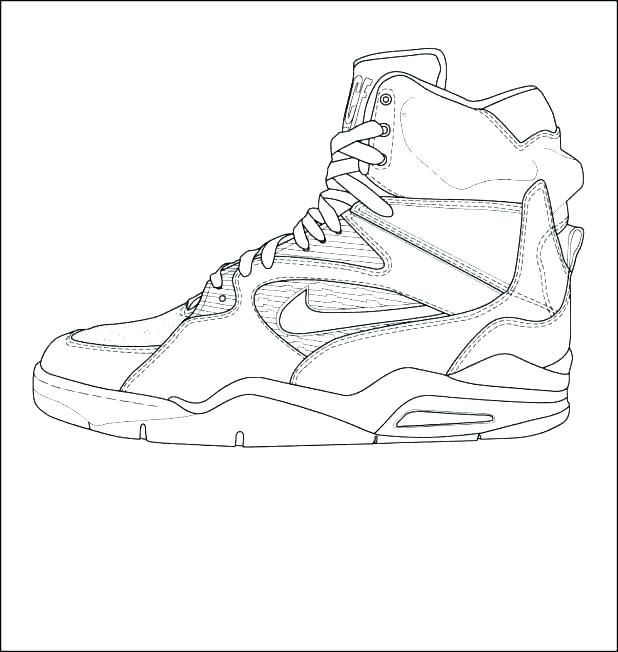 618x652 Basketball Shoe Coloring Pages Free Coloring Pages Sneaker