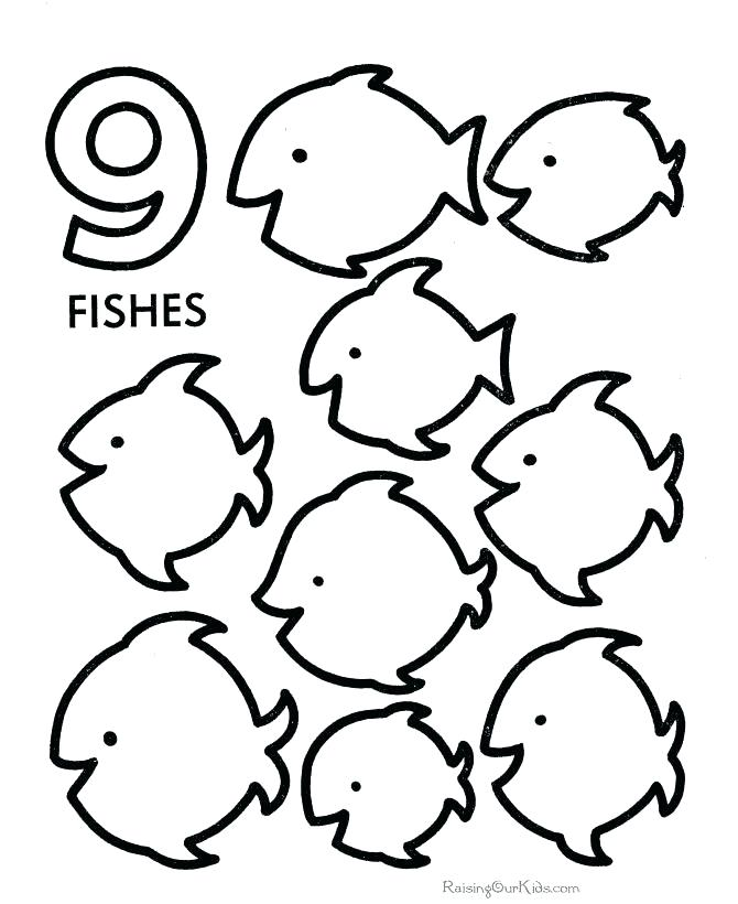 670x820 Number Coloring Sheet Coloring Sheet Number Learning Number