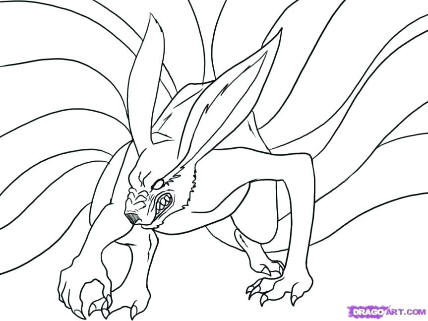 863x647 Kakashi Coloring Pages Coloring Pages These Are The Nine Tailed