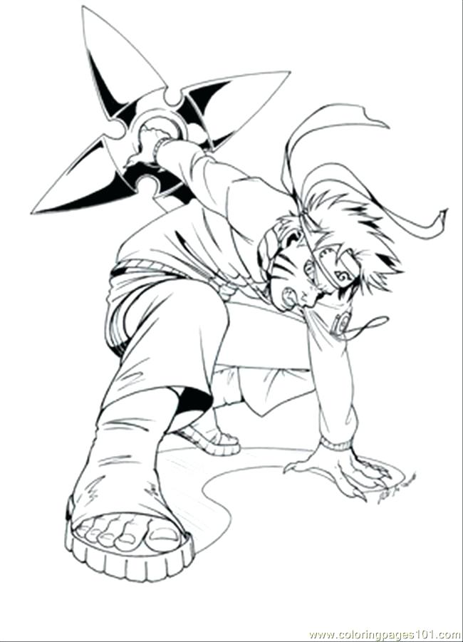 650x901 Naruto Nine Tailed Fox Coloring Pages Online