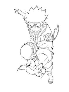 236x314 Naruto Coloring Pages Nine Tailed Fox Anime Naruto
