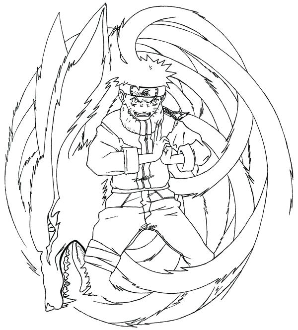 600x665 Outstanding Cool Tails The Fox Coloring Pages Print Nine Tailed