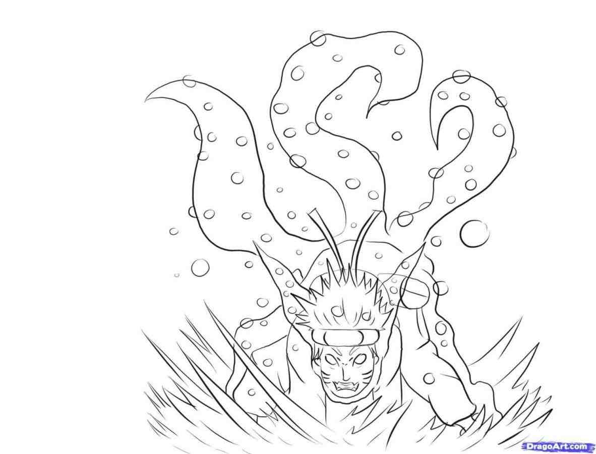 1182x901 Destiny Naruto Nine Tailed Fox Coloring Pages