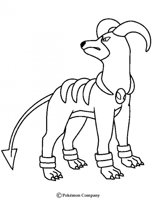 630x850 Dark Houndoom Coloring Pages