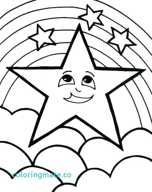 500x632 Stars Coloring Pages Shooting Stars Coloring Pages Star Coloring