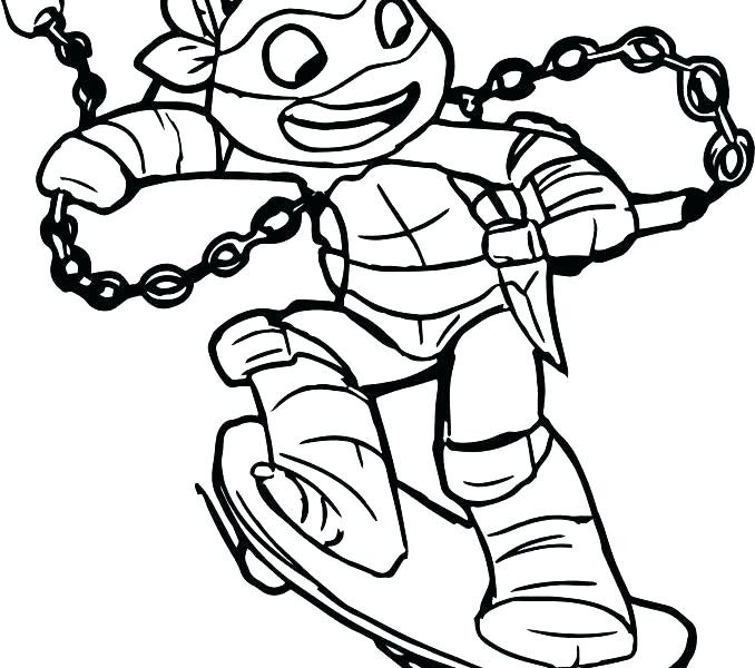 678x600 Awesome Collection Of Ninja Turtle Christmas Coloring Pages