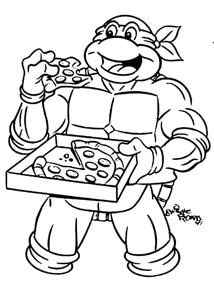 687x923 Ninja Turtle Color Pages Ninja Turtles Coloring Pages Printable
