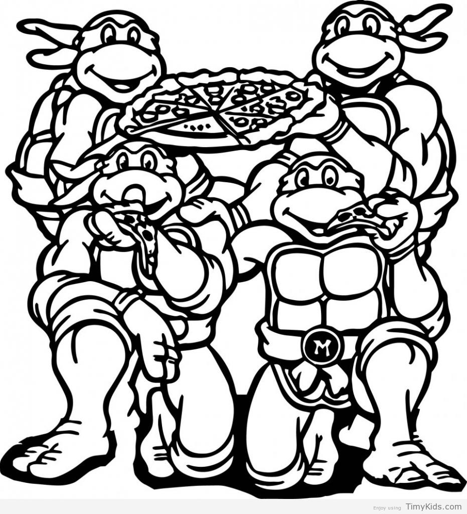 931x1024 Ninja Turtles Christmas Coloring Pages To Print Coloring