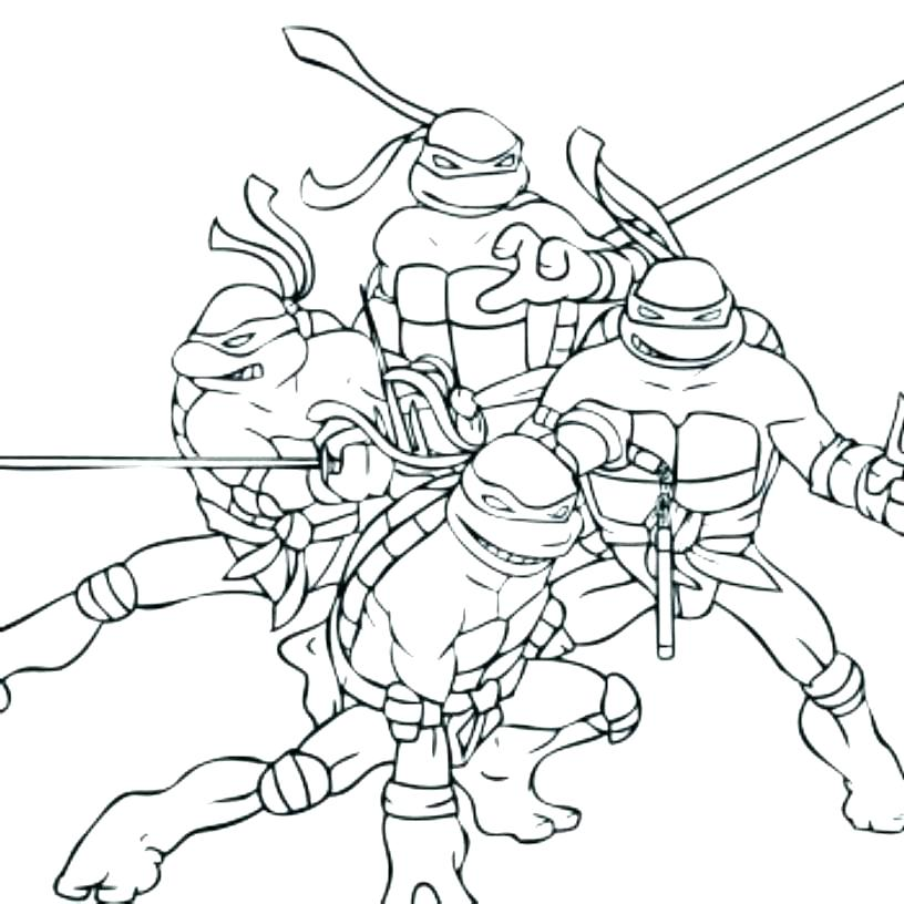 816x816 Ninja Turtles Christmas Colouring Pages Cute Turtle Coloring Pages