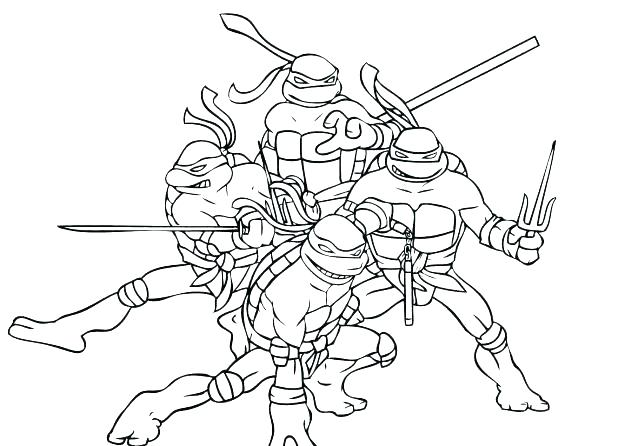 618x446 Ninja Turtles Coloring Pages Coloring Collection Ninja Coloring