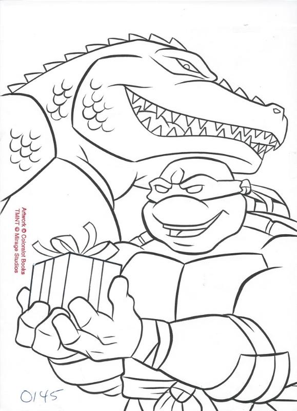 579x800 Ninja Turtle Christmas Coloring Pages Teenage Mutant Ninja