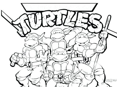 500x374 Ninja Turtle Christmas Coloring Pages Coloring Pages Of A Turtle