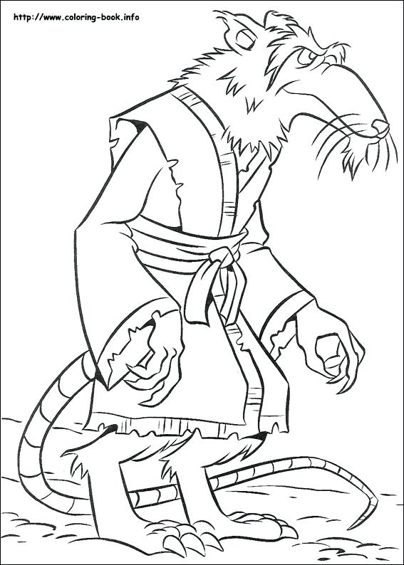 567x794 Teenage Mutant Ninja Turtles Christmas Coloring Pages Picture