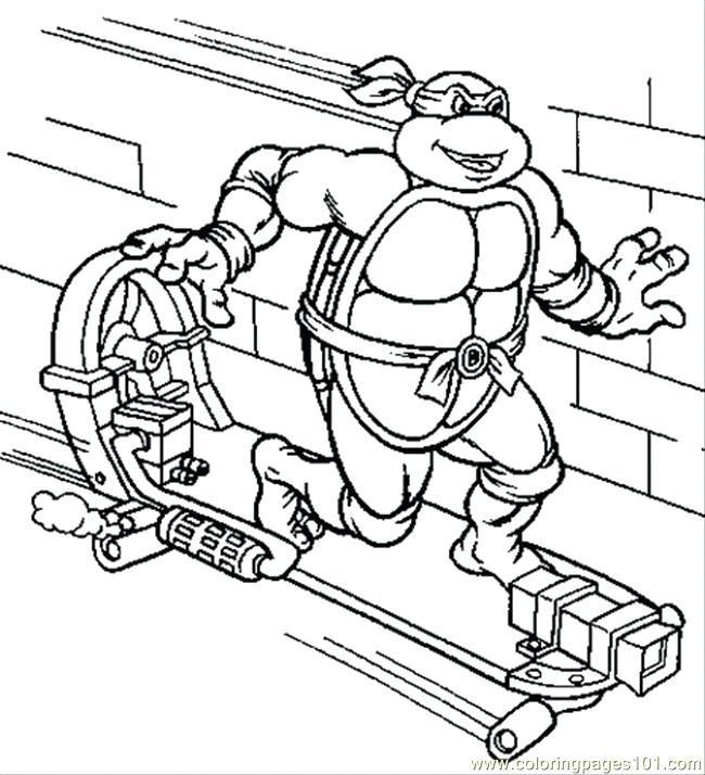 650x714 Ninja Turtle Color Sheets