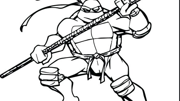 585x329 Teenage Mutant Ninja Turtles Christmas Coloring Pages