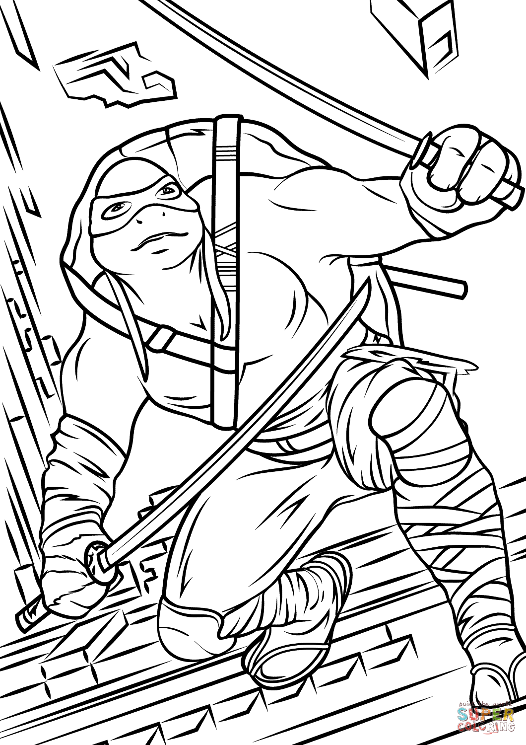 Ninja Turtle Coloring Pages For Toddlers At Getdrawings Com