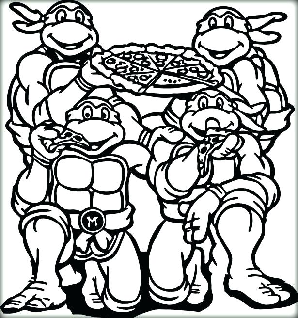 Ninja Turtle Coloring Pages Pdf