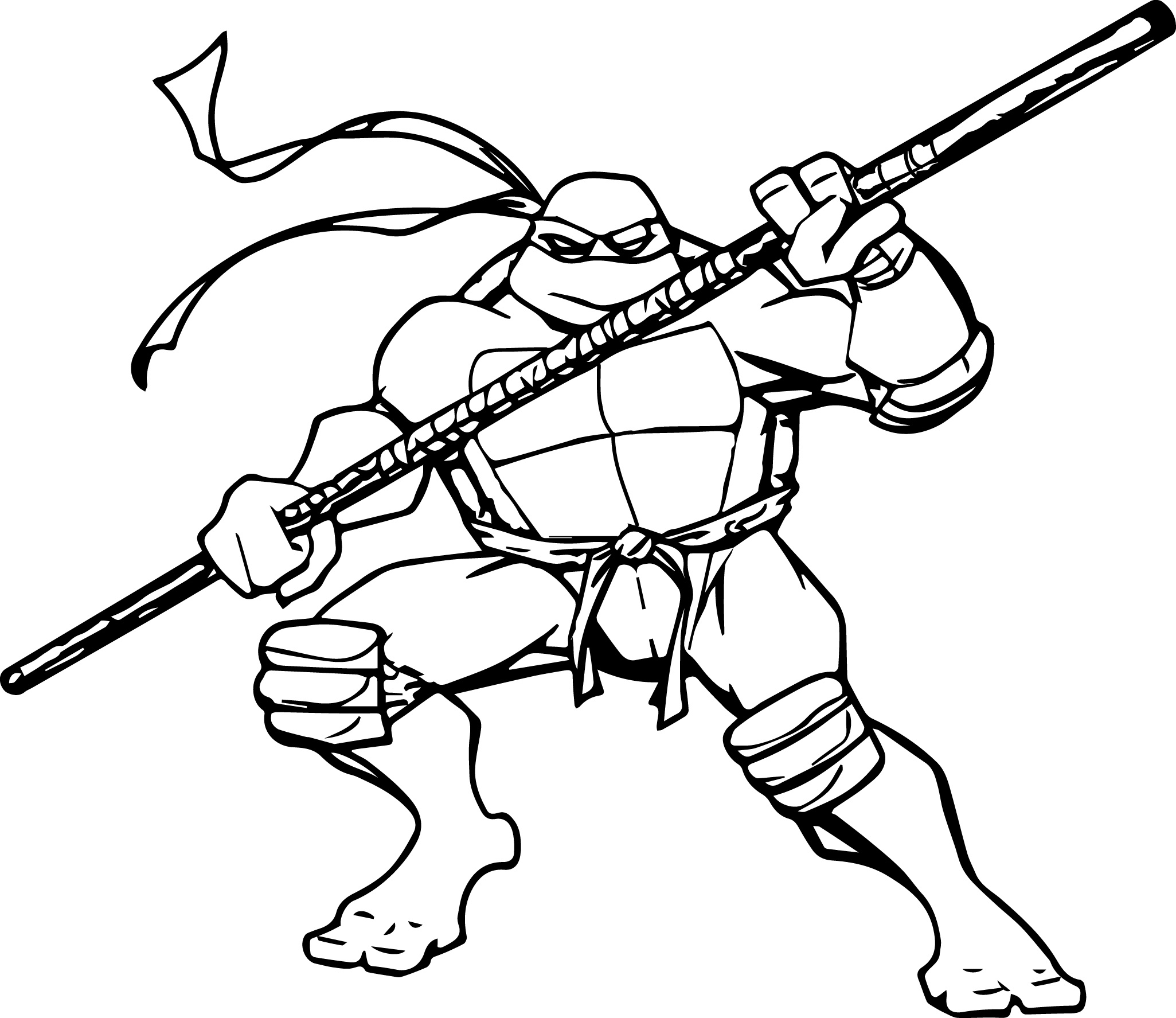 Ninja Turtle Coloring Pages To Print At Getdrawings Com Free For