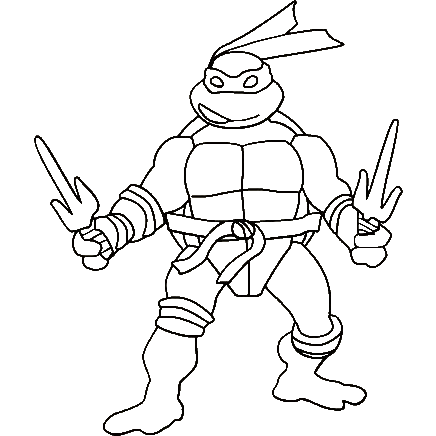 436x436 Ninja Turtles Coloring Page