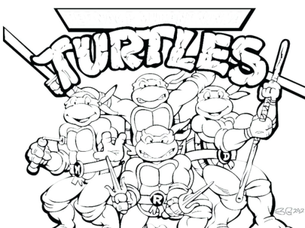 1024x766 Better Teenage Mutant Ninja Turtle Coloring Pa