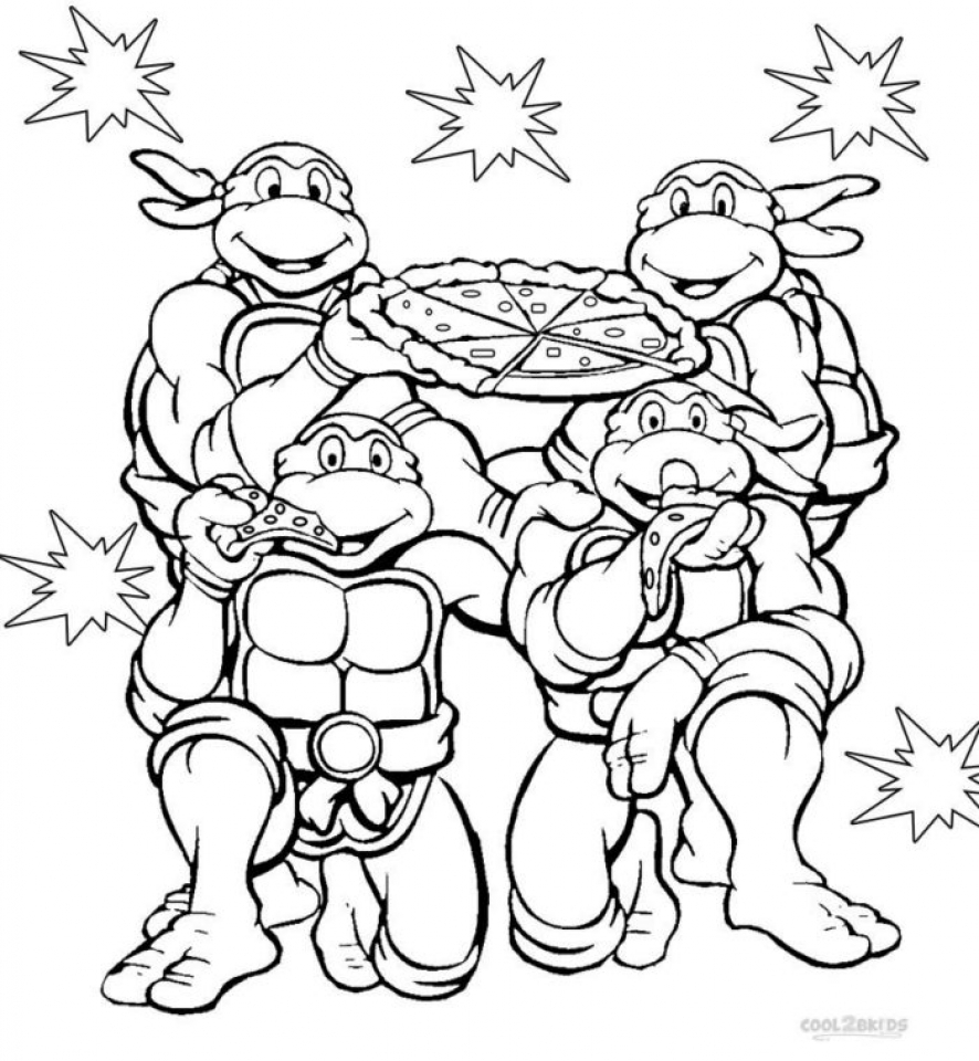 886x960 Huge Gift Ninja Turtles Coloring Pages To Prin Unknown Ninja
