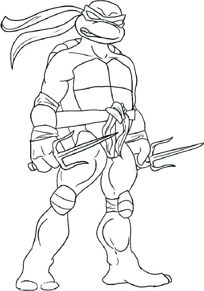 650x927 Michelangelo Ninja Turtle Mask Color Turtles Coloring Page Sapia