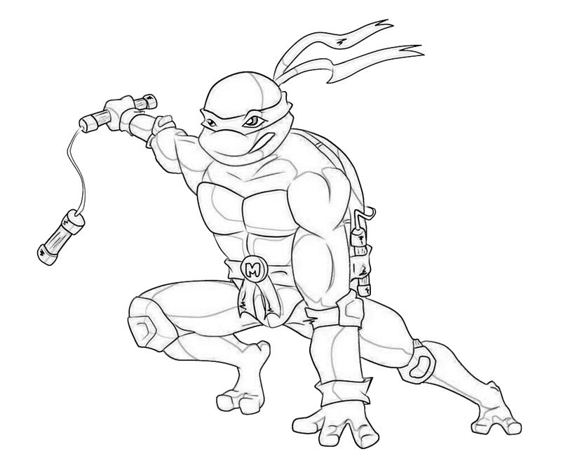 800x667 Michelangelo Ninja Turtle Coloring Pages