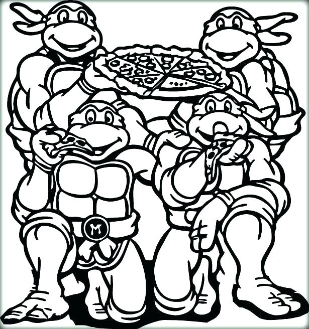 615x656 Ninja Turtle Coloring Pages Coloring Pages Of Ninjas Ninja Turtles
