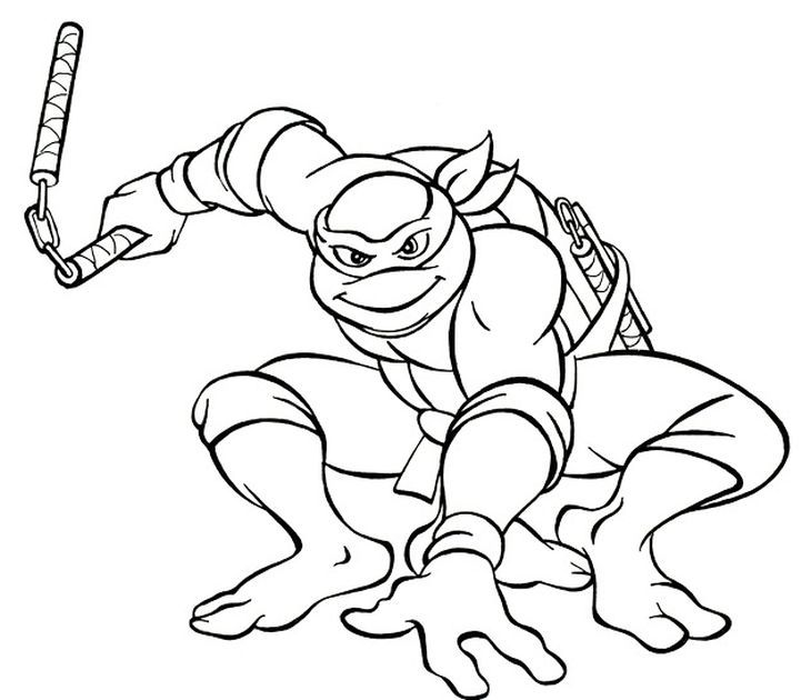 730x630 The Coolest And Funniest Ninja Turtle Michelangelo Coloring Page