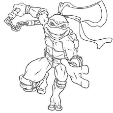Ninja Turtles Coloring Pages Michelangelo At Getdrawings Com