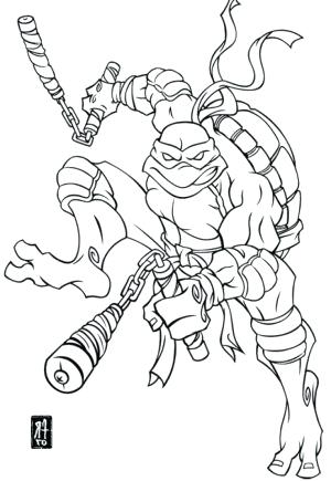 300x435 Michelangelo Coloring Pages Ninja Turtle Coloring Book Plus