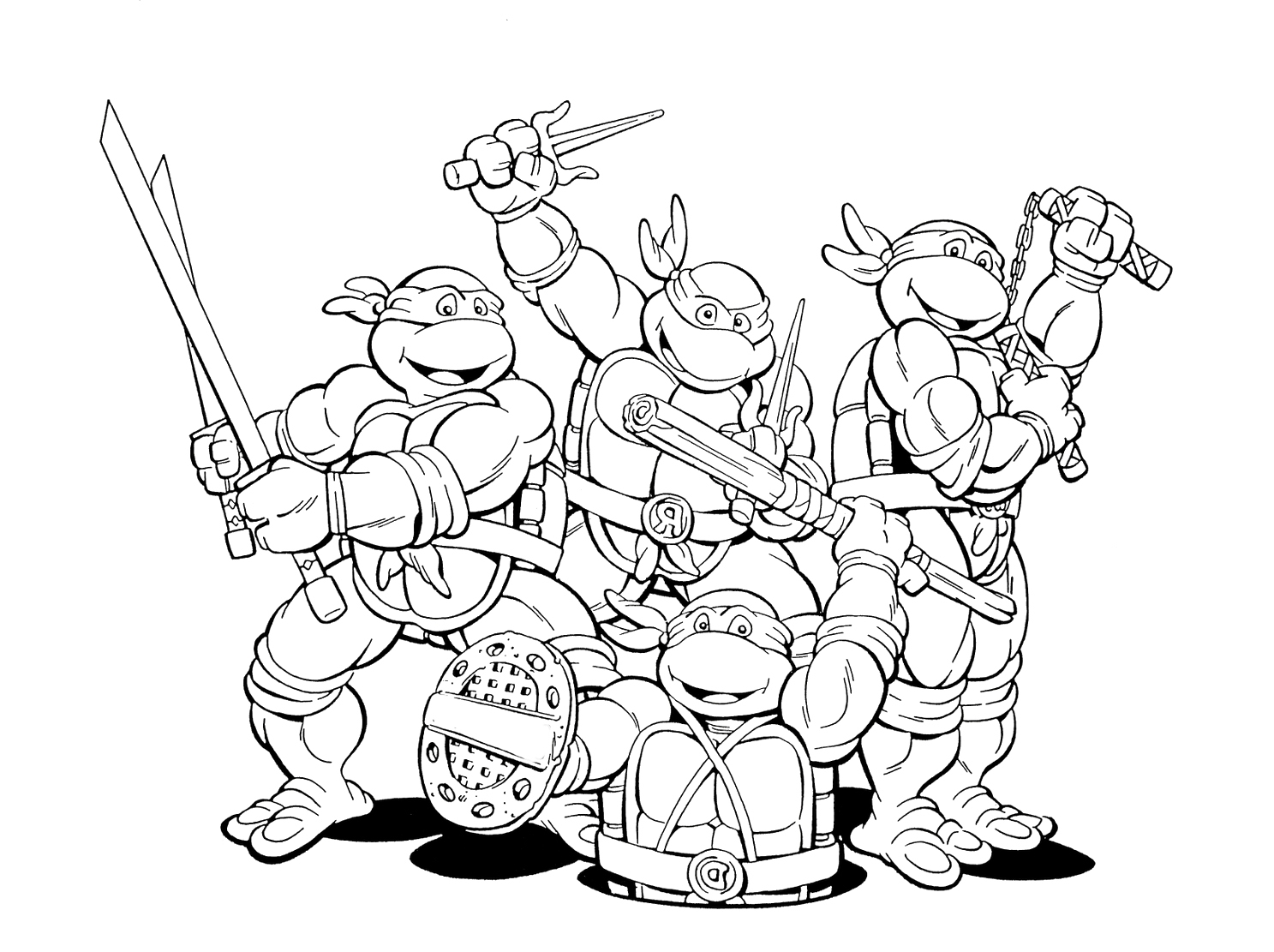Ninja Turtles Coloring Pages Raphael