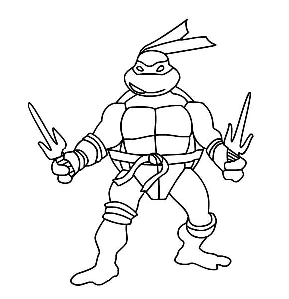 580x600 Raphael Ninja Turtle Coloring Pages On Dibujos Para Colorear