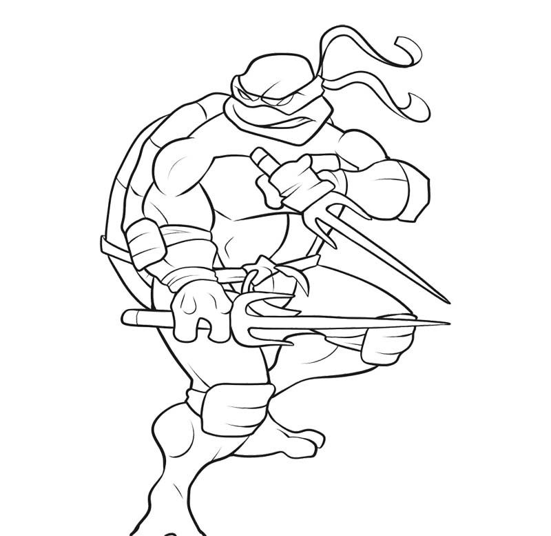 800x777 Teenage Mutant Ninja Turtles Coloring Page Color It Out