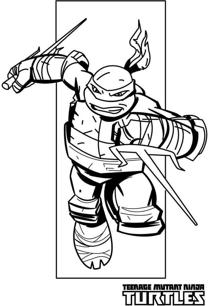 736x1061 Teenage Mutant Ninja Turtles Coloring Pages Raphael Kids