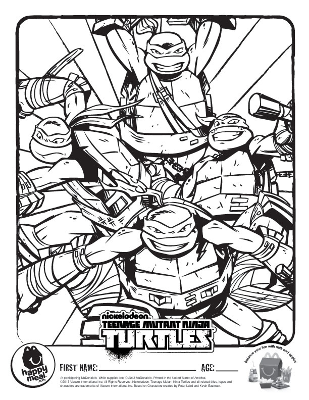 612x792 Nickelodeon Teenage Mutant Ninja Turtles Coloring Pages