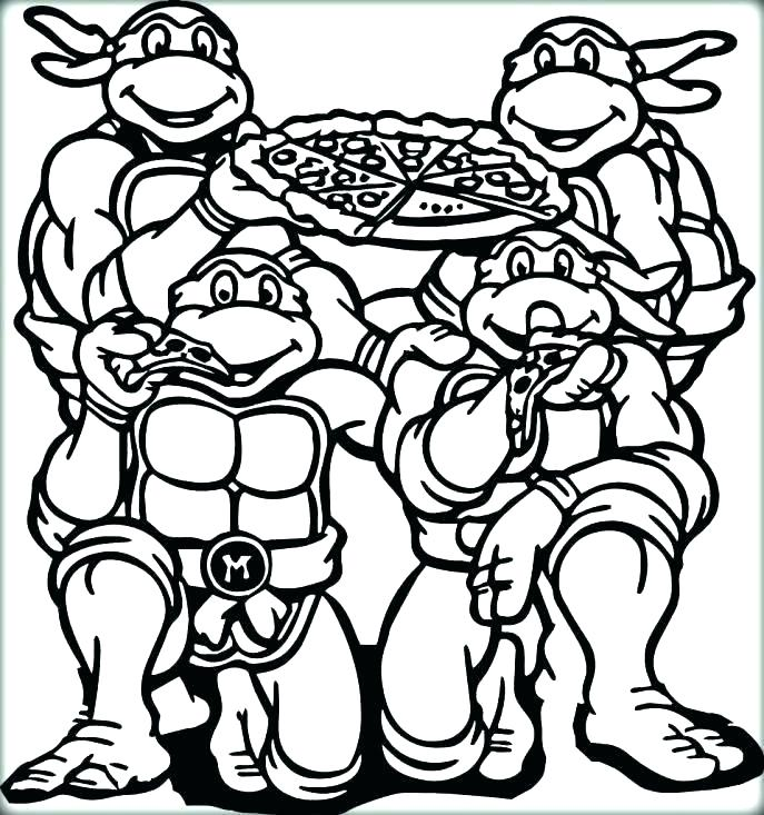 687x733 Ninja Turtle Coloring Book Plus Free Coloring Pages Teenage Mutant