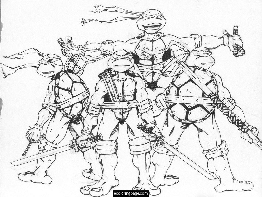 1030x775 Ninja Turtles Coloring Pages Printables In Movie