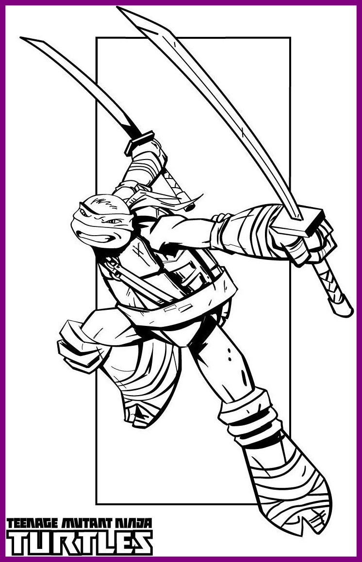 746x1159 Best Ralph Ninja Turtle Coloring Page Large Pic For Printable