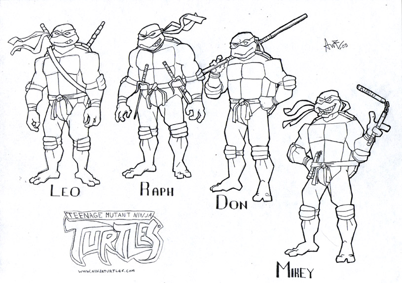 815x574 Simple Teenage Mutant Ninja Turtles Coloring Pages