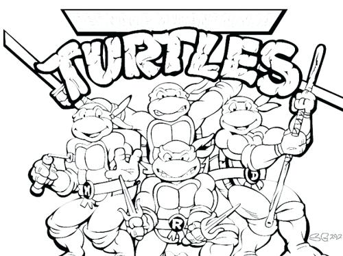 500x374 Teenage Mutant Ninja Turtle Coloring Pages Printable Teenage